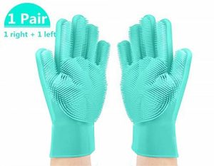 Dishwashing Gloves with Wash Scrubber gift for women and girls
