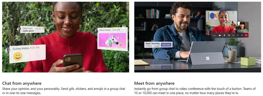 Microsoft Teams Screenshot free online conferencing software