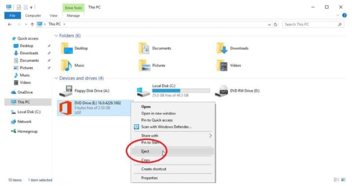 Method1 Mount the ISO File in Windows 10 or 8.1