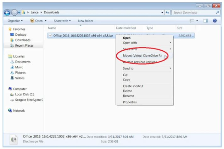Method2 Mount the ISO File in Windows 7