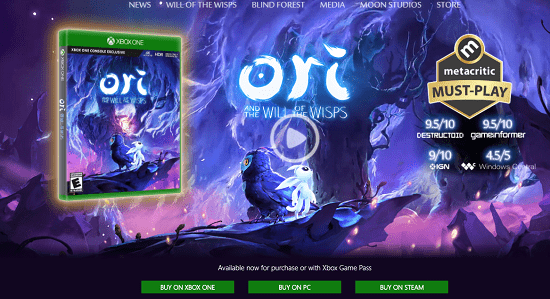 1. Ori and the Will of the Wisps is the best pc game