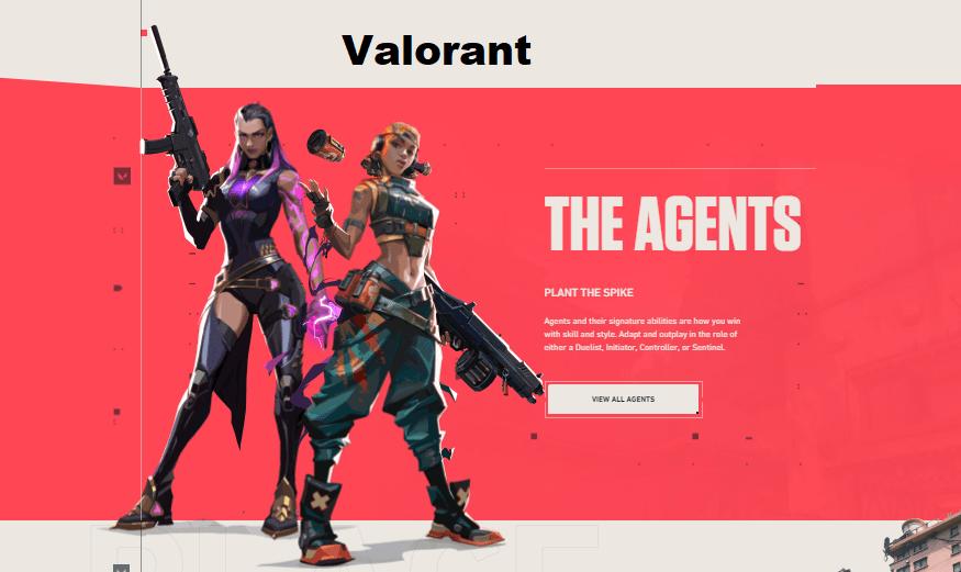 4. Valorant pc games