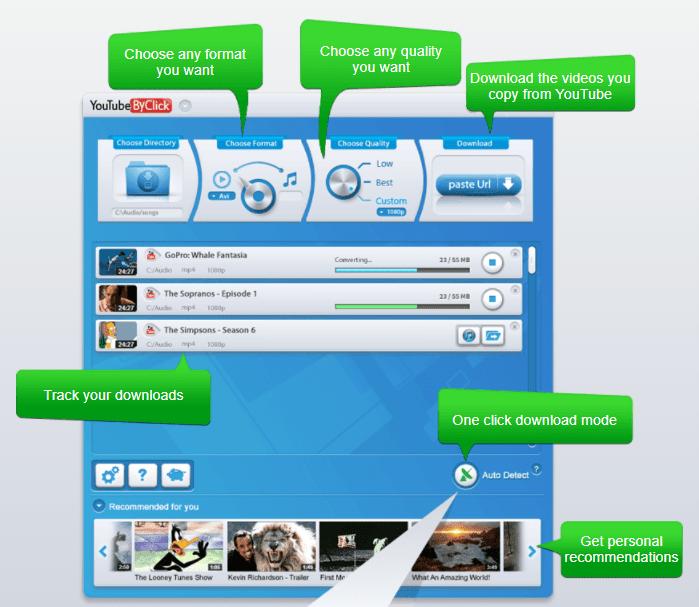 YouTubeByClick videos downloader In desktops