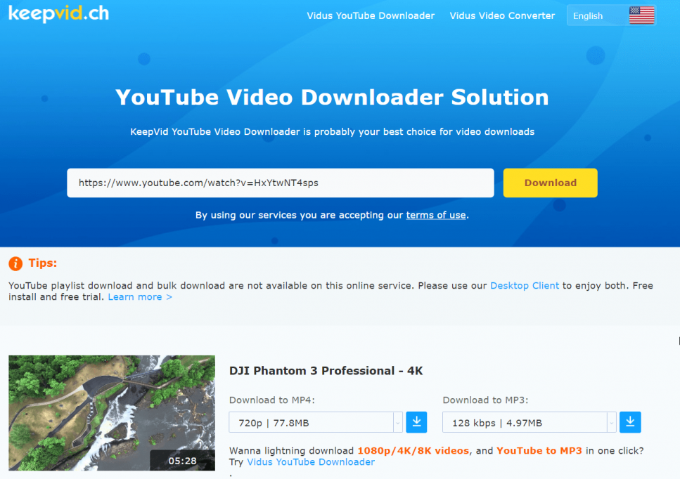 KeepVid is a popular website for downloading videos