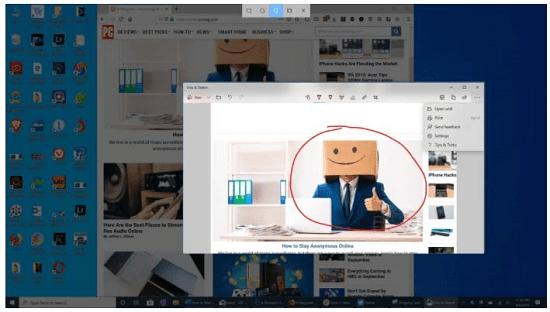 2. Use Shift windows key s to take a screenshot in laptop