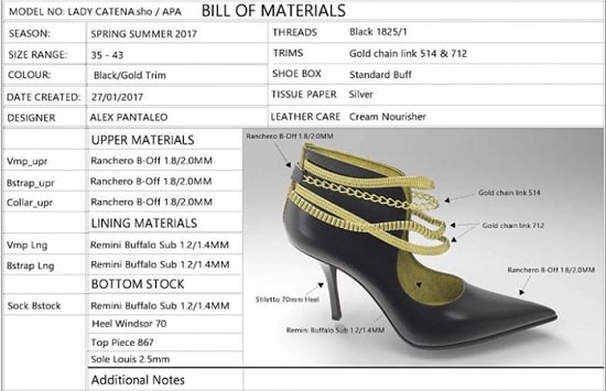Features 6 Production and Bill Material Stocks Counter shoemaster design software