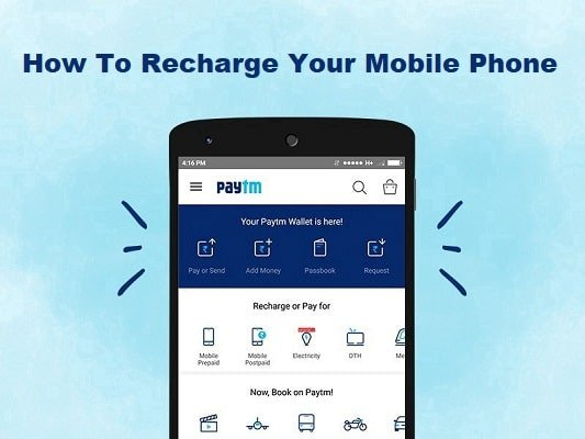 How to recharge mobile phones and metro card through Paytm App