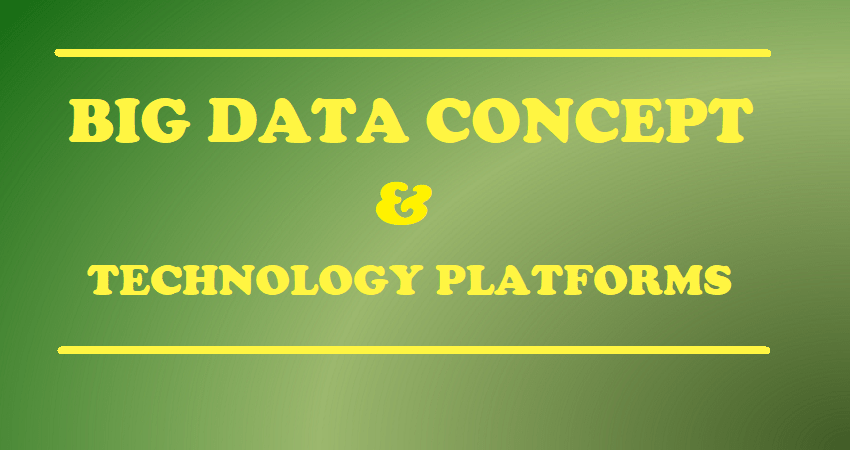 BIG DATA CONCEPT TECHNOLOGY PLATFORMS