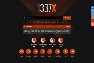 3. 1337x – Reliable with Torrent Search Options