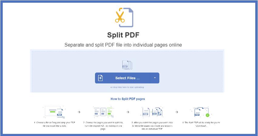 Split PDF Pages Online Using Free PDFBear
