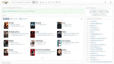 8. Zooqle – Movies, Shows, Games at All Resolution