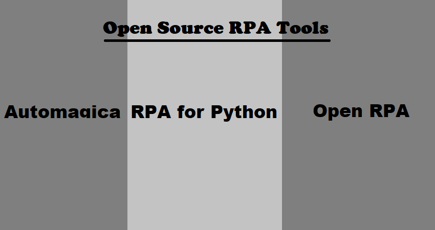 Open Source RPA Tools