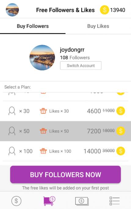 Get 1000 Free Instagram Followers Trial Bonus With Getinsta App