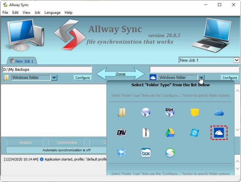 Description: allway-sync-configure-onedrive