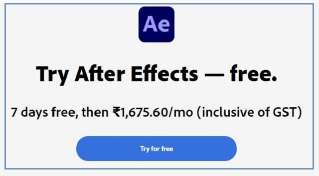 Click For Download Free Adobe After Effects