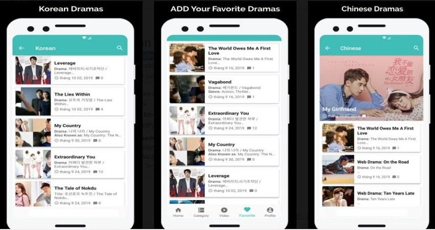 KissAsian Korean Drama App Mobile View Screenshots